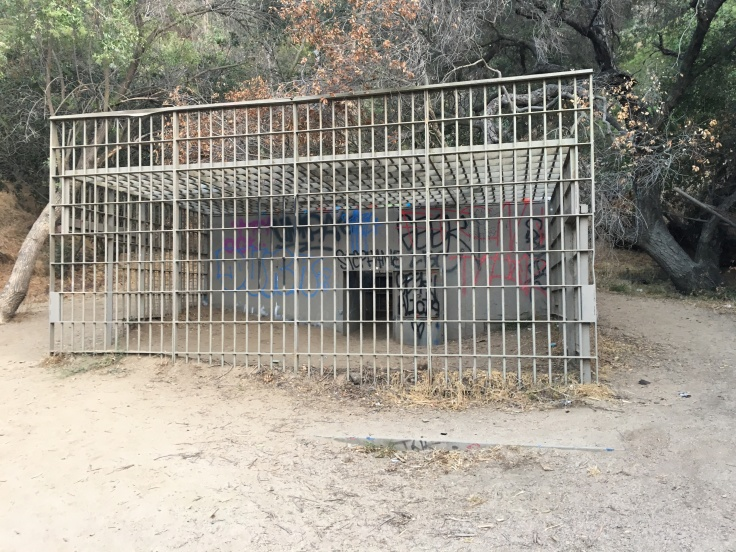 Cages at Old Los Angeles Zoo